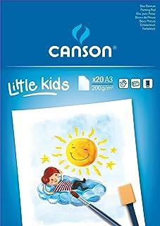 Canson Kids 400015589 Papier à dessin 20 feuilles A3 29,7 x 42 cm Blanc