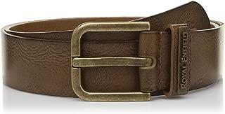 "Royal Enfield Tabac Treated Leather Belt Length 34"" (RLCBEI000028)"