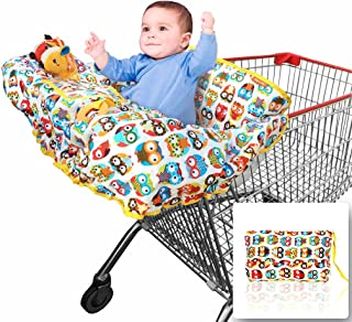 Croc n frog 2-in-1 Shopping Cart Covers for Baby + High Chair Cover for Germ Protection..