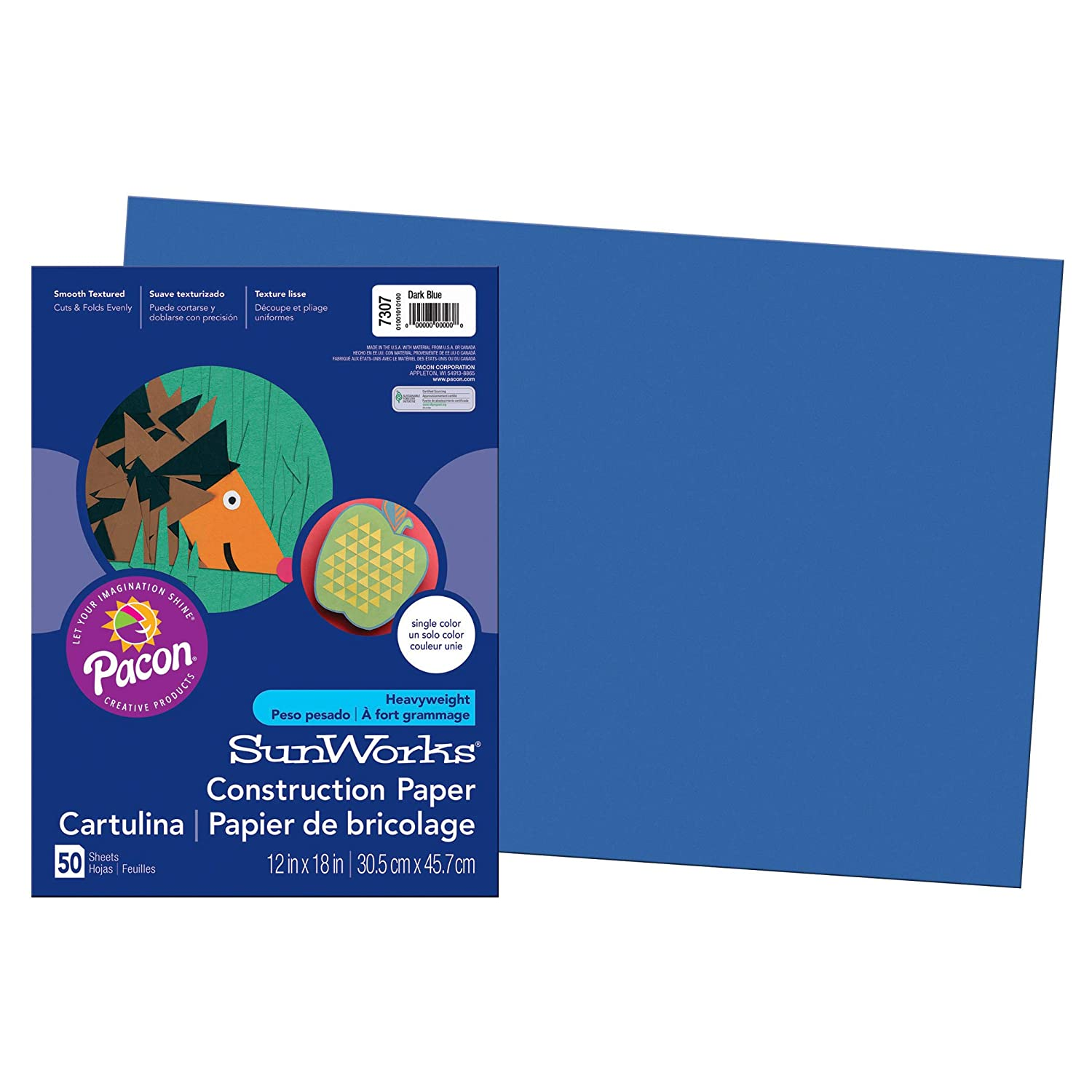 67% OFF of fixed price SunWorks PAC7307BN Construction Paper Dark x 12