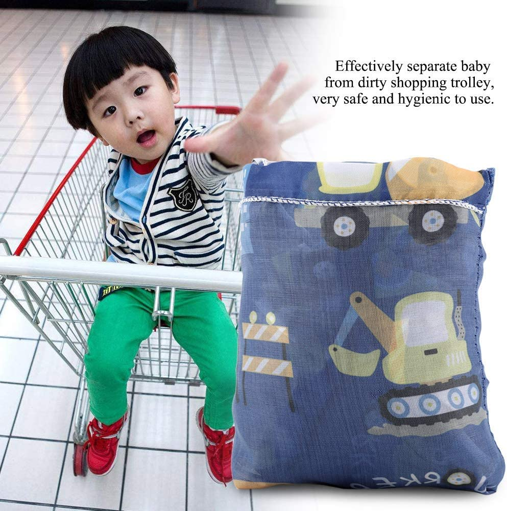 Baby Shopping Cart Cover Toddler Children Folding Shopping Cart Cover Anti Dirty Kids Trolley Seat Chair Cover(1)