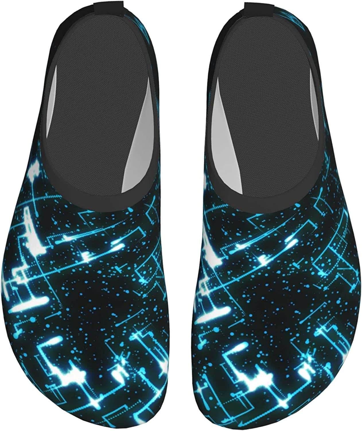 Dianzizimaomayi Techno Sphere Adult Mens Womens Water Shoes for Yoga Non-Slip Surfing Shoes Protect Feet Pool Shoes