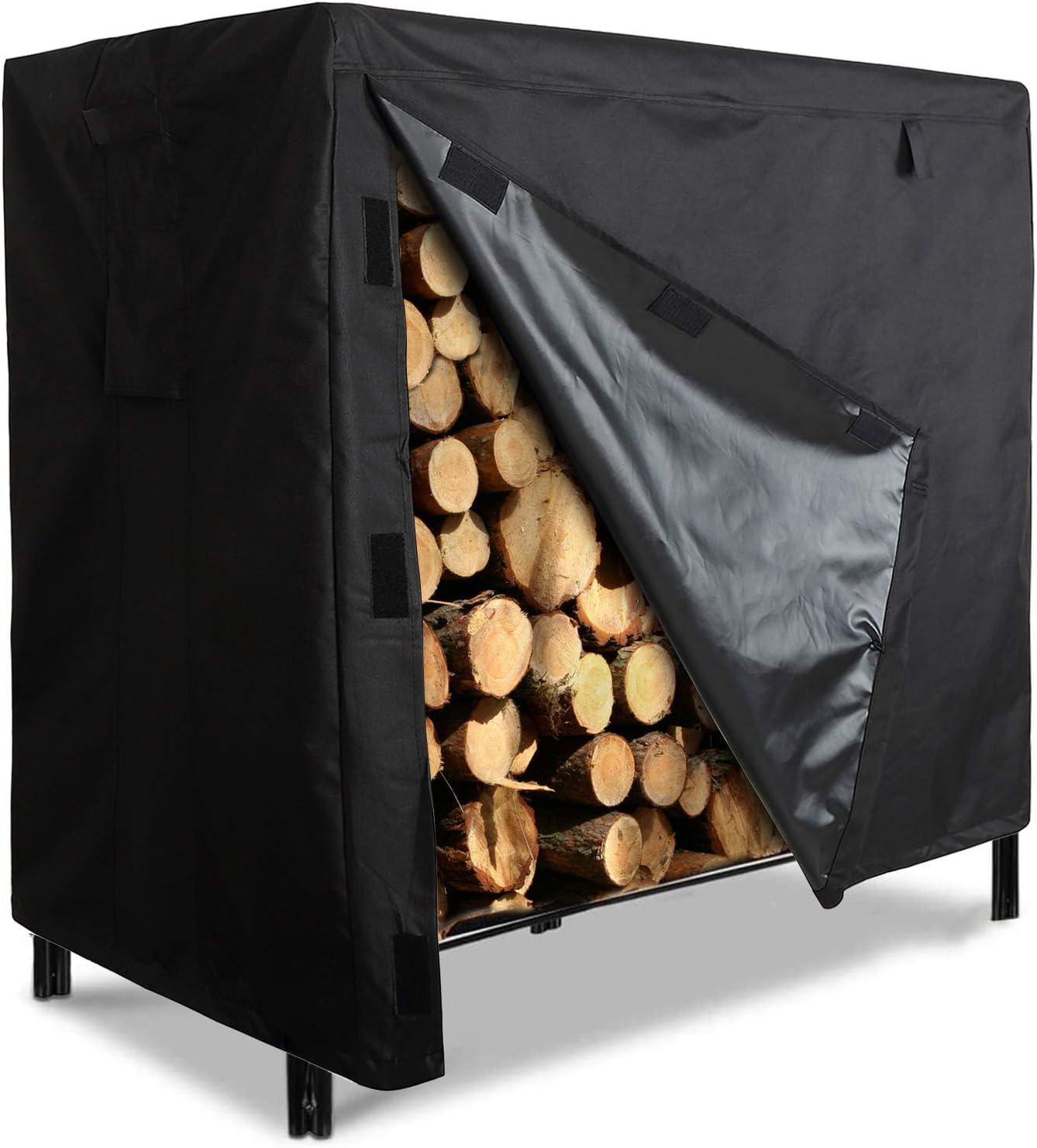 Suwimut New sales Firewood Rack Cover 4 High quality new Oxford 600D Feet Waterproof Heavy