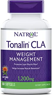 Natrol Tonalin CLA Softgels, Derived from Safflower Plant, Promotes Lean Muscle Mass, Helpes Increase Muscle Retention, Pr...