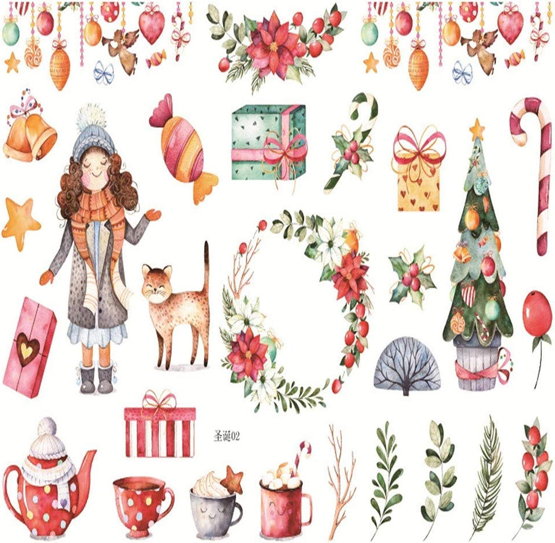 WHKCX 10 stücke Weihnachten Elch Schneemann   Weihnachtsmann ungeschnitten Dekoration Aufkleber DIY Planer Tagebuch Scrapbooking Album Aufkleber B07KCCLQST | Wir haben von unseren Kunden Lob erhalten.