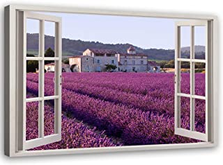 Quadro su tela con fiori di lavanda senza cornice ZHANGSHAIFFBH 30 x 40 cm camera da letto poster e stampe verdi decorazione per la casa