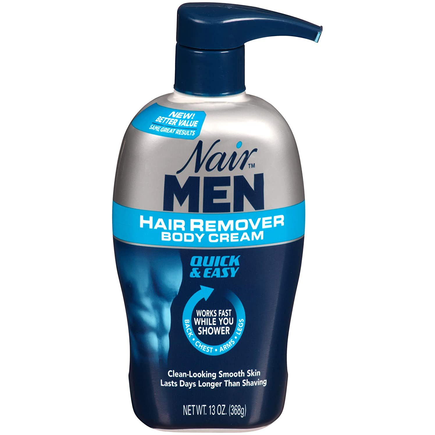 センチメンタル契約する療法Nair Hair Remover Men Body Cream 385 ml Pump by Nair