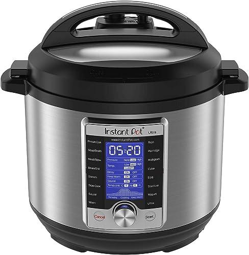 Instant Pot Ultra 10-in-1 Electric Pressure Cooker, Sterilizer, Slow Cooker, Rice Cooker, Steamer, Sauté, Yogurt Make...