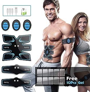 OSITO Electroestimulador Muscular Abdominales, USB Recargable EMS Estimulador Muscular Abdominales, para Abdomen/Cintura/Pierna/Brazo