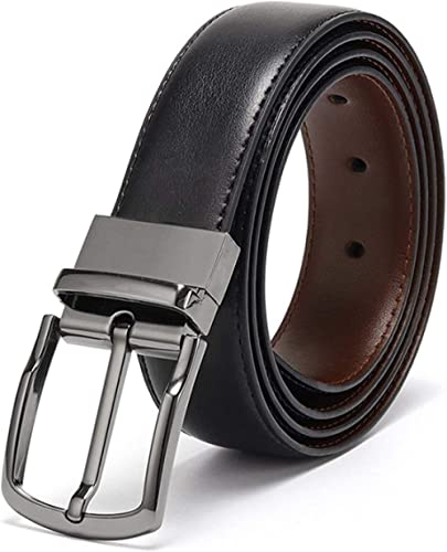 Eliz Luxe Belts for Men Reversible Leather 1.25 Waist Strap Fashion Dress Buckle Eliz Luxe - 1 Year Warranty