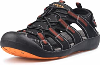 Men's Outdoor Sandals Protective Topcap Water Shoes Sport Hiking Sandals Waterproof Quick Dry Large Size