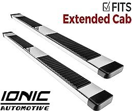 Ionic 51 Series Brite Running Boards 2011-2014 Chevy Silverado GMC Sierra Extended Cab Diesel Engine