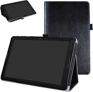 AT&T Primetime Tablet Case,Mama Mouth PU Leather Folio 2-Folding Stand Cover with Stylus Holder for 2017 AT&T Primetime 10
