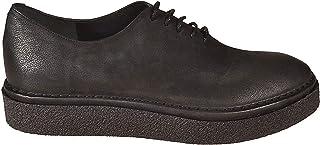 DEL CARLO Women's 10606ANTARESBLACK Black Leather Lace-Up Shoes
