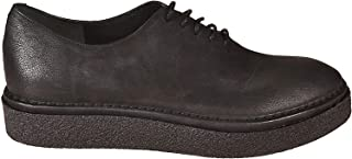 DEL CARLO Luxury Fashion Womens 10606ANTARESBLACK Black Lace-Up Shoes | Season Outlet