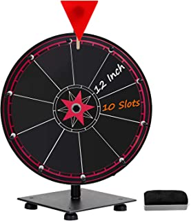 T-SIGN 12 Inch Heavy Duty Spinning Prize Wheel, 10 Slots Tabletop Prize Wheel Spinner, 1..