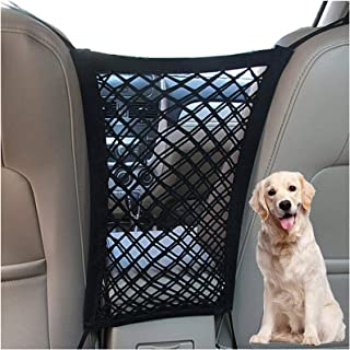 Pet Barrier Dog Car Net Barrier with Auto Safety Mesh Organizer Baby Stretchable Storage Bag Universal for Cars, SUVs -Eas...