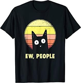 Funny Cat Shirts: Ew, People Vintage Cat Lover T-Shirt