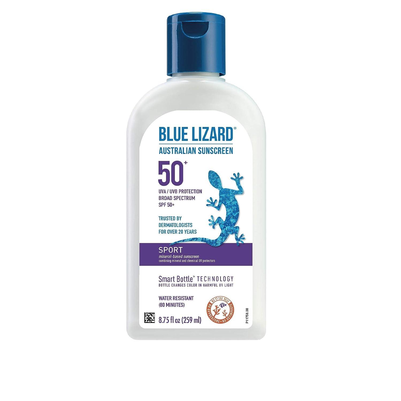 BLUE price LIZARD Sport Mineral-Based NEW Sunscreen SPF 50+ Crea Lotion -