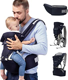 Sweety Fox - Multipositions-Babytrage Mit Hüfthocker - Für Babys von 3-36 Monaten - Baumwollbezug Polsterung aus atmungsaktivem Netzgewebe - Komfort und Sicherheit dank der regulierbaren Gurte