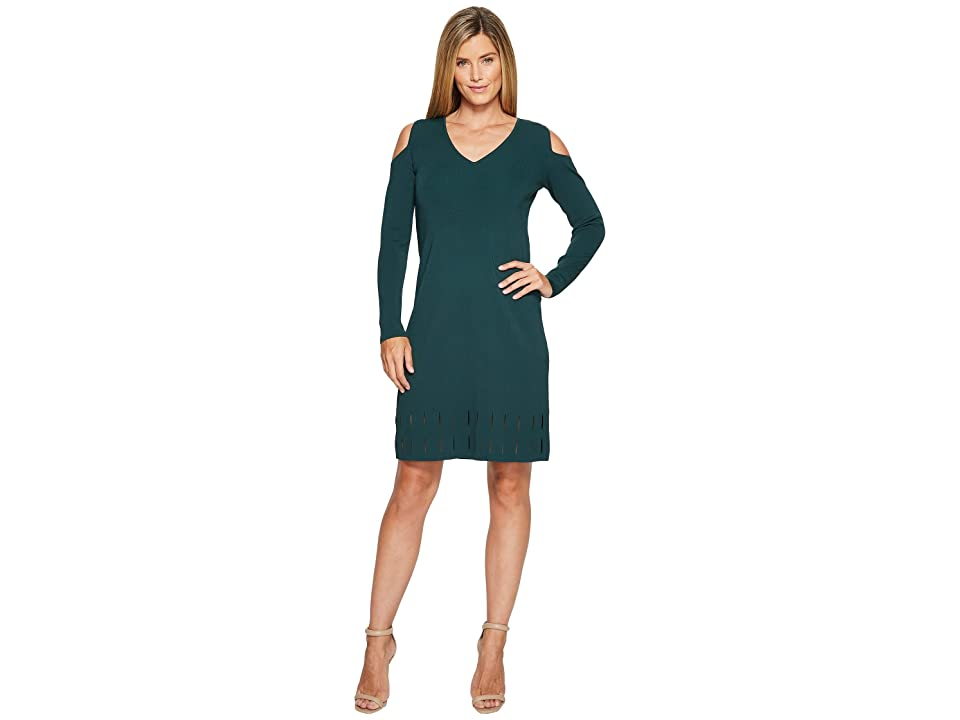 NIC+ZOE Peeking Out Dress (Dark Emerald) Women