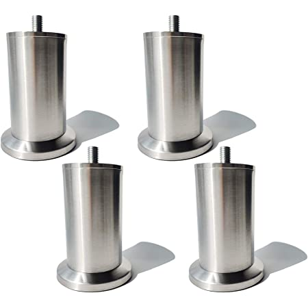 Tischbeine höhenverstellbar Möbelfüße Sockelfuß Schrankfuße Sofafüße Edelstahl
