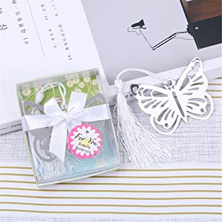 Yansanido 12pcs Butterfly Metal Bookmarks Baby Shower Souvenirs Birthday Wedding Favors and Gift for Guest (12pcs Butterfly)