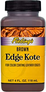 Fiebing's Edge Kote, 4 Oz. - Color Coats Leather Edges - Brown