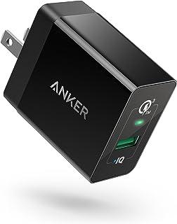 【改善版】Anker PowerPort+ 1 (18W USB急速充電器) 【PSE認証済/PowerIQ搭載/折りたたみ式プラグ搭載 / QC3.0対応】Galaxy S10 / S9、iPhone、iPad 他対応 (ブラック)