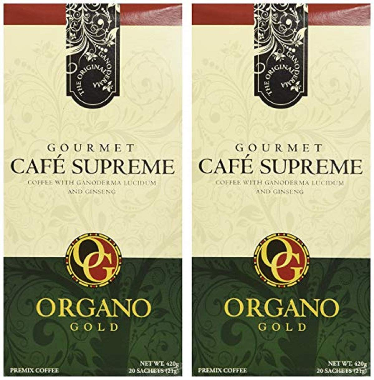 2 New product box Organo Gold Cafe Supreme It is very popular Organic Co Certified 100% Gourmet