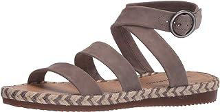Lucky Brand Women's DELFINNE Flat Sandal, Driftwood, 5