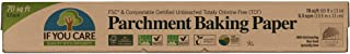 If You Care Parchment Baking Paper – 70 Sq Ft Roll - Unbleached, Chlorine Free, Greaseproof, Silicone Coated – Standard Si...