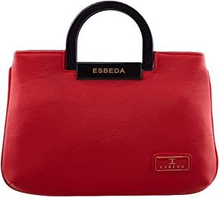 ESBEDA Red Solid Pu Synthetic Fabric Armbag For Womens