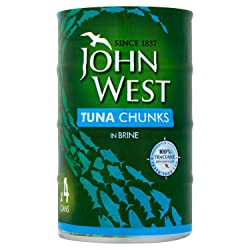 John West Tuna Chunks In Brine, 4x145 g
