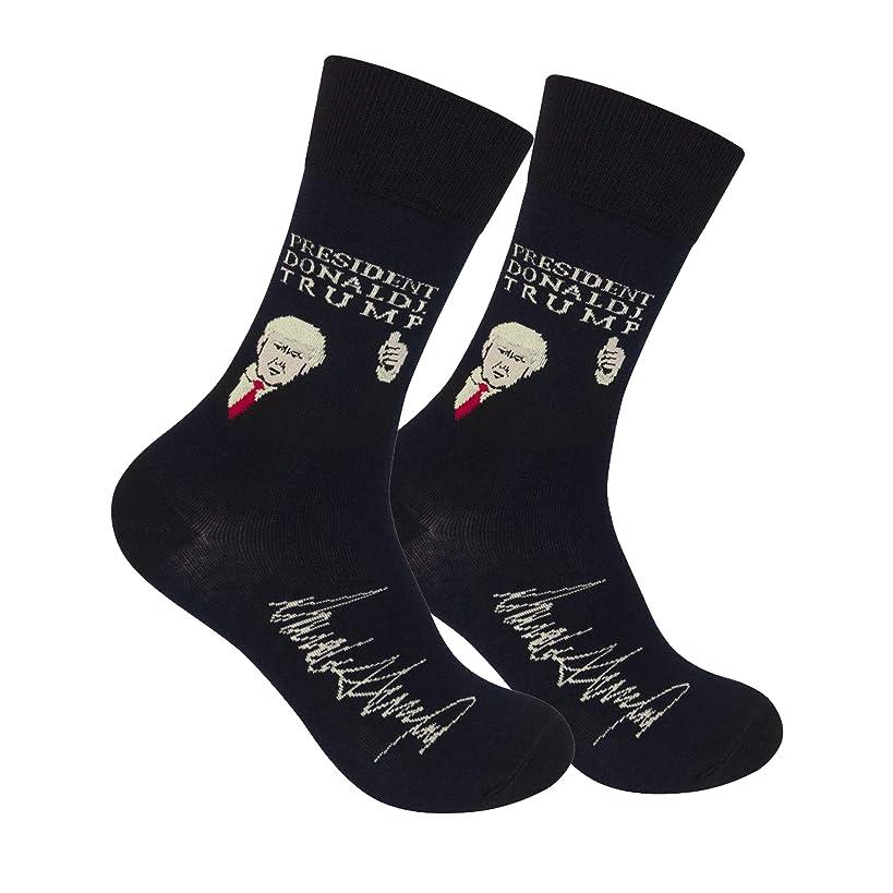 Funatic President Donald Trump Crew Socks with Signature - GOP Republican Conservative
