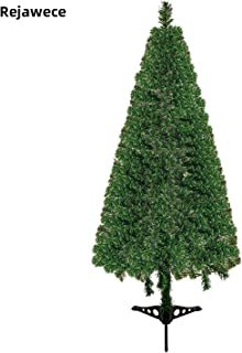 Rejawece Artificial Christmas Tree, Unlit, Premium Hinged Spruce   Easy to Assemble with Sturdy Plastic Stand   Space Saving Solution for Small Spaces, Holiday Decorations for Home & Office   3.6 Feet