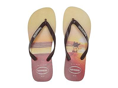 Havaianas Hype Flip Flops (Sand Grey/Dark Brown) Men