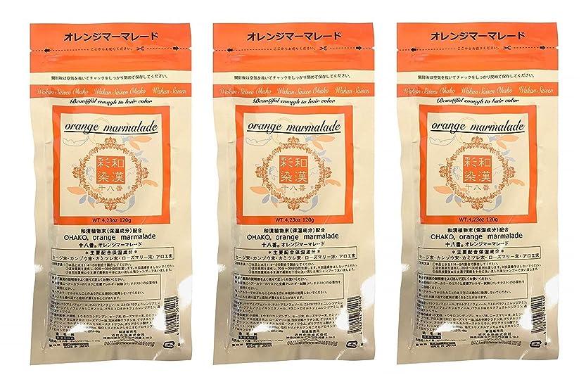 歴史家確認する癒す【3個セット】グランデックス 和漢彩染 十八番 120g オレンジママーレード