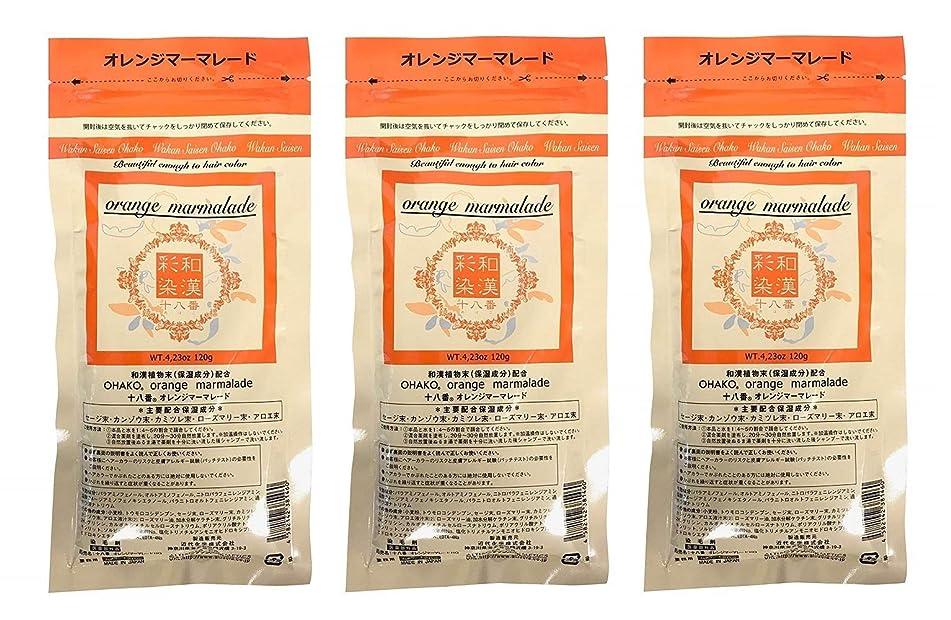 高く正規化罰【3個セット】グランデックス 和漢彩染 十八番 120g オレンジママーレード