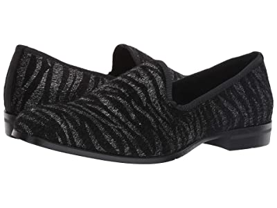 Stacy Adams Sultan Tiger Pony Hair Slip-On (Black/Silver) Men