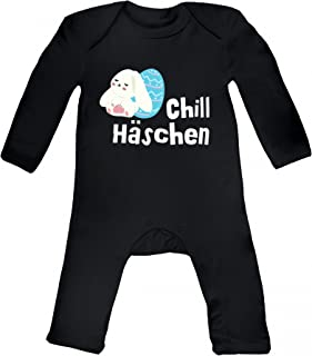süßes Ostergeschenk Ostern Easter Baby Strampler Langarm Schlafanzug Jungen Mädchen Chill-Häschen