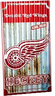 Team Sports America Detroit Red Wings Corrugated Metal Wall Art