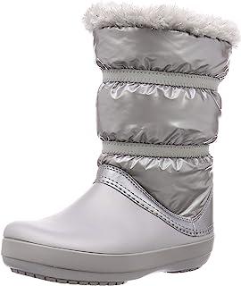 Crocs Kids' Crocband LodgePoint Metallic Boot Snow