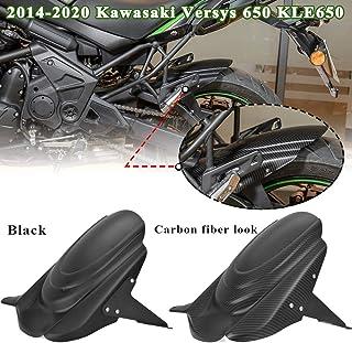 LoraBaber para Kawasaki Versys 650 KLE650 Guardabarros trasero Cubierta de rueda Protector contra salpicaduras de neumáticos 2014-2020 Versys650 15 16 17 18 19(Negro)