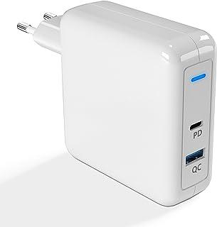 Cargador USB-C, fuente de alimentación USB C de 78 W compatible con cargador MacBook Pro USB C, cable de carga Arkidyn Mac...