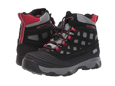 Merrell Kids Thermoshiver 2.0 Waterproof (Little Kid/Big Kid) (Black/Red) Boys Shoes