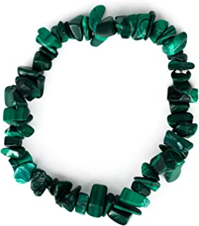 Nuevo Morera Árbol de la vida Brazalete Elástico Tono Plata Perlas Brillante Suave