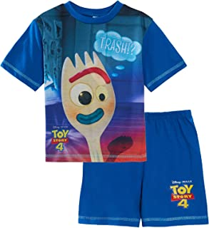 Toy Story 4 Forky Pijamas Cortos Niños Corto Pjs Conjunto de Verano Ropa de Noche