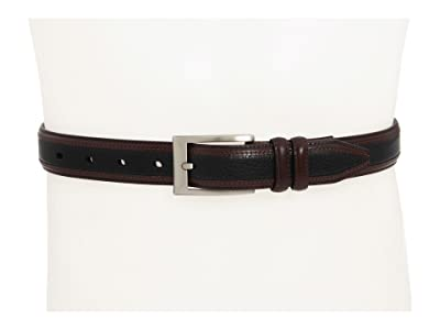 Johnston & Murphy Deerskin Belt (Black/Dark Brown) Men