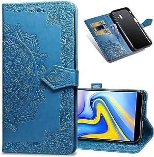 Funzione Supporto Chiusura Magnetica per Samsung Galaxy J6 Plus//J610FN LODROC Cover Galaxy J6+ J6Plus Flip Cover Custodia Protettiva Caso Libro in Pelle PU con Portafoglio LOHH0500491 Blu